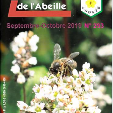 LSA La Santé de l'Abeille N°293 09-10-2019