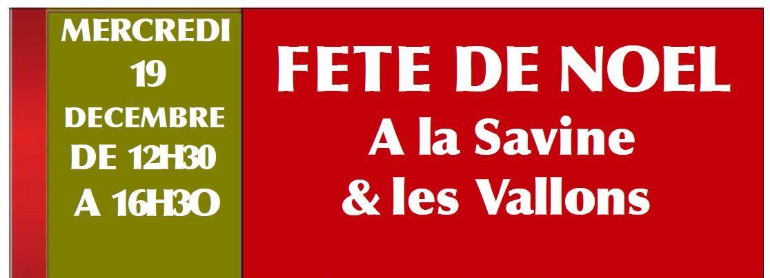 2018-12-19 Mercredi Fête de Noël à La Savine de 12 h 30 à 16 h 30