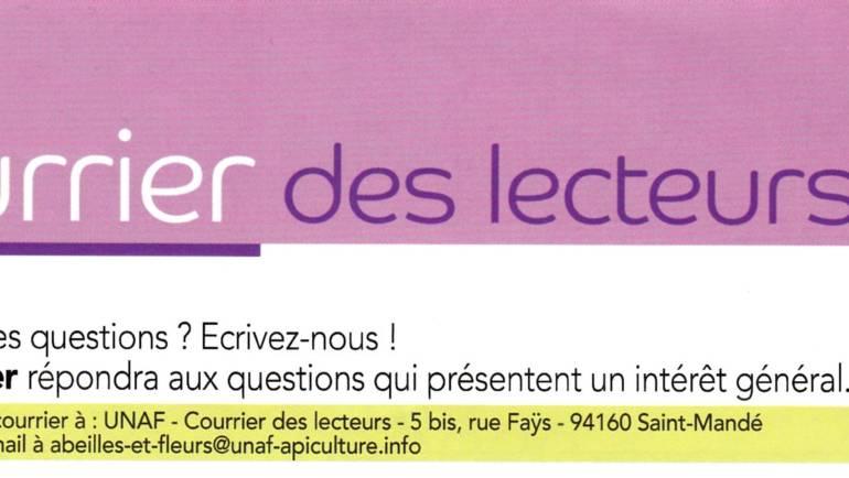 Abeilles et Fleurs de France n°820 Novembre 2019 Courrier des lecteurs